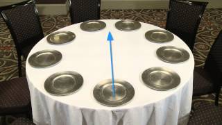 Setting Banquet Tables