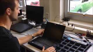 Slimline Display Austausch beim Beispiel eines Lenovo ThinkPad X300