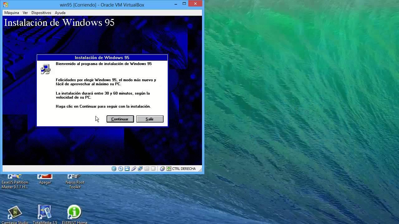 Cómo instalar Windows 95 en Virtualbox