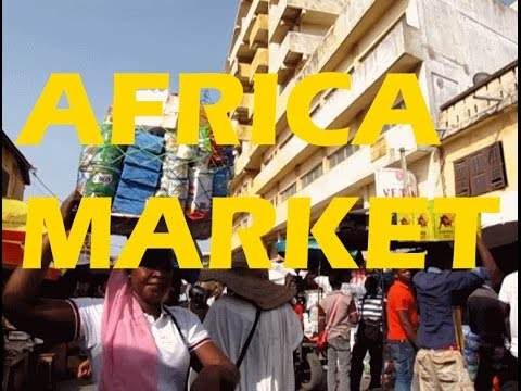 Destination Lome Togo Central Market, I am Hot and Tired