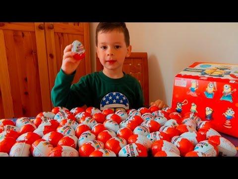 Киндер сюрприз Kinder Surprist 72 киндер сюрприза Миньоны. Рекламный ролик канала МАК ЛАЙК