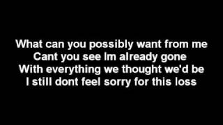 Crossfade - Already gone (lyrics)