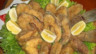 Жареная рыба по балкански. Очень вкусный, праздничный и простой рецепт.