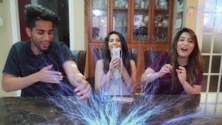 Electric Shock Challenge ft. YouTwo tv (Jaz & Harjit)