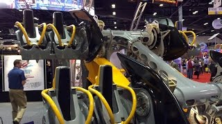 Batman Train Reveal Six Flags Fiesta Texas IAAPA 2014