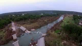 Wimberley, TX Memorial Day Flood - Fisher Store Road Bridge Collapse