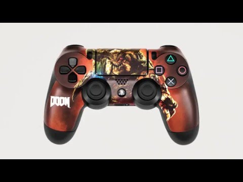 PS4 Controller Skin Application DOOM Edition By Controller