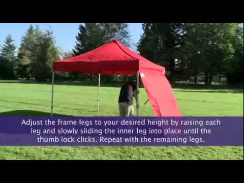 Instant Canopy Sidewall Setup | FoodTent.com & Instant Canopy Sidewall Setup | FoodTent.com - YouTube