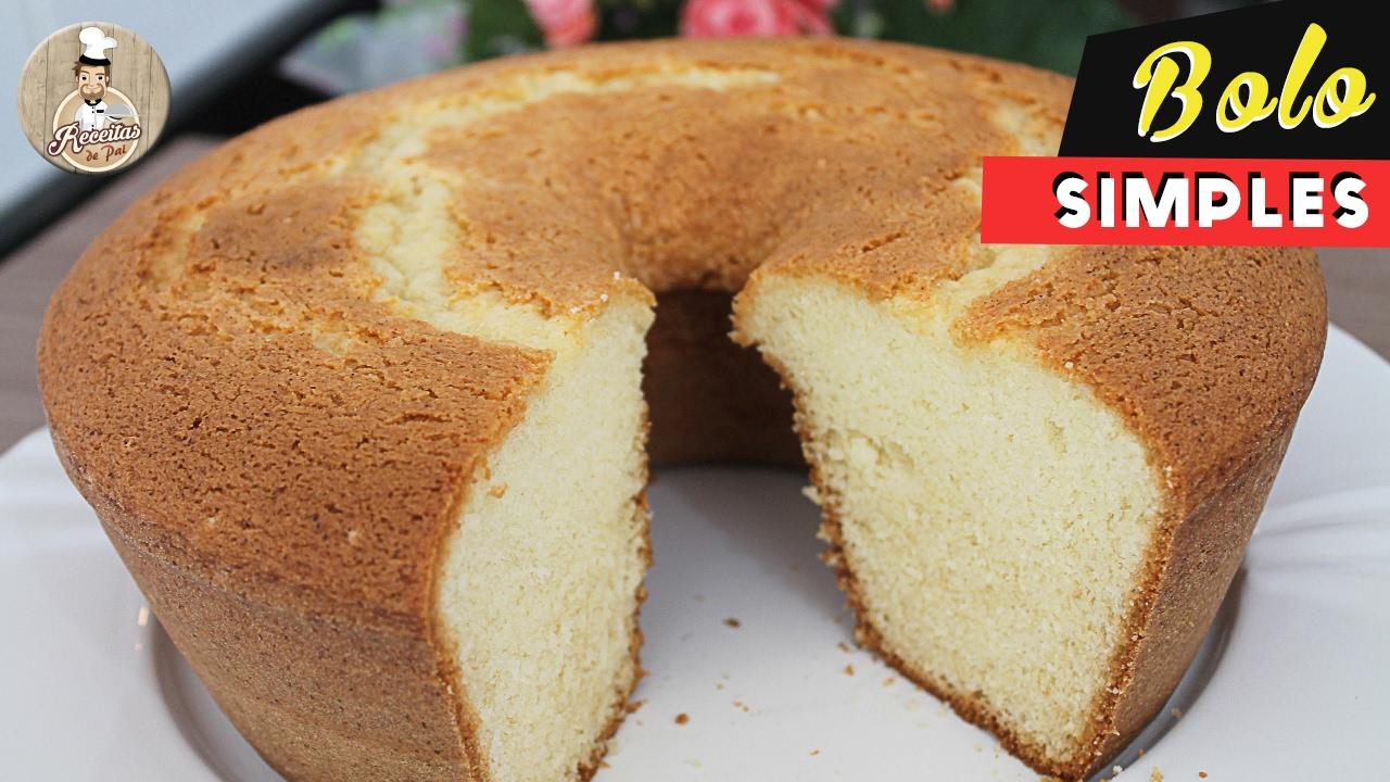 bolo de trigo fofinho em forma grande