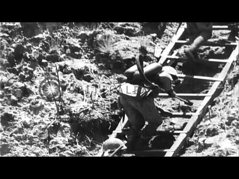 Fall of Corregidor to Japanese, during World War 2, Japanese newsreel. HD Stock Footage