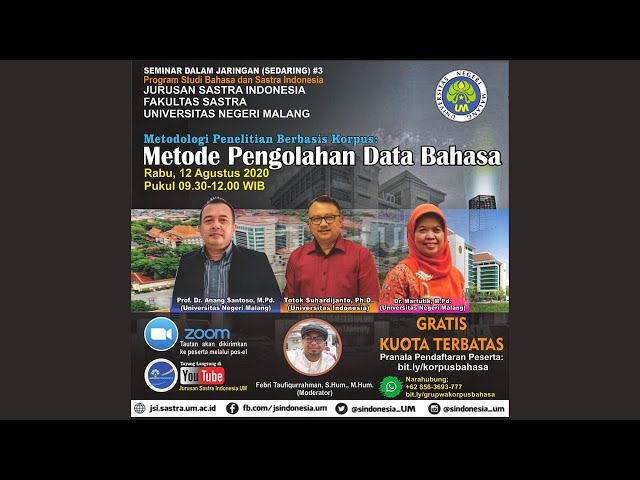Sedaring #3 Prodi Bahasa dan Sastra Indonesia