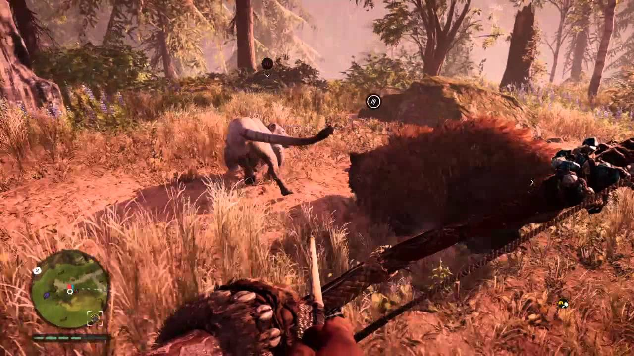 Far Cry Primal Brown Bear Vs Cave Lion Youtube