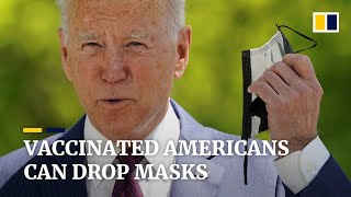 Download US CDC drops mask mandate for fully vaccinated Americans