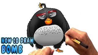 How to Draw Bomb from The Angry Birds Movie (NARRATED)