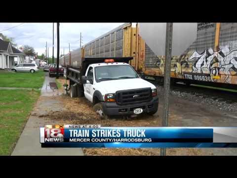 Train Strikes Pickup Truck in Harrodsburg
