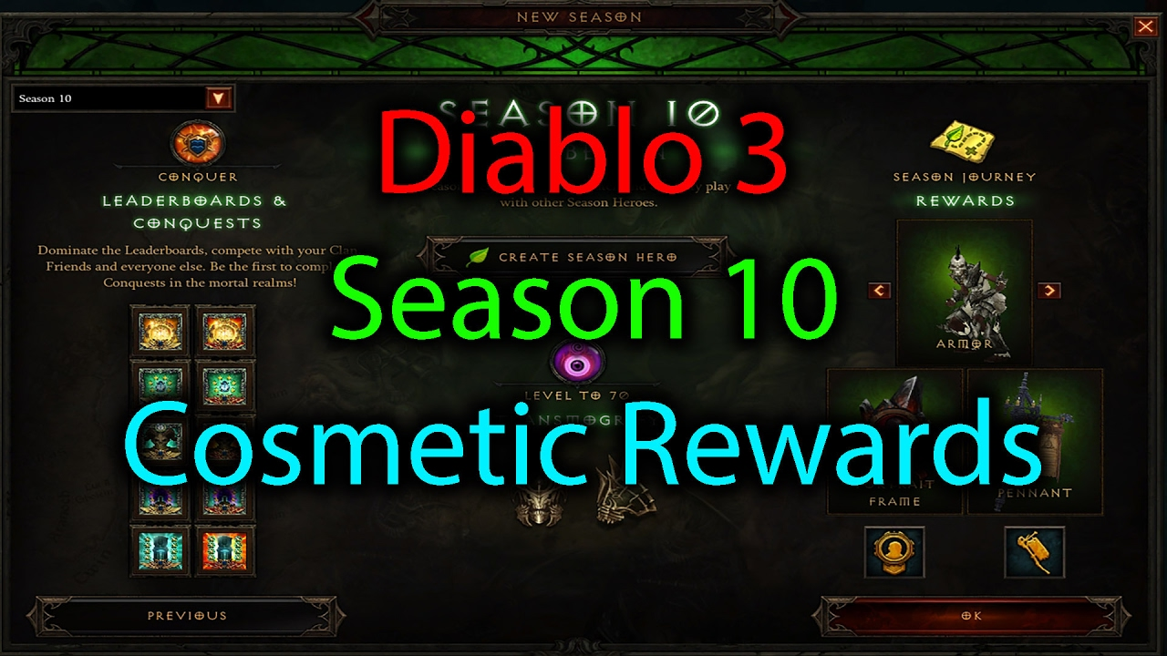Diablo 3 New Banner and Portrait Frame in Season 10 Patch 2.5 ...