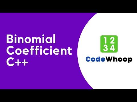 Binomial Coefficient using C++