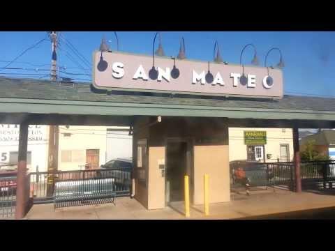 Riding  Caltrain from Millbrae  to Palo Alto California