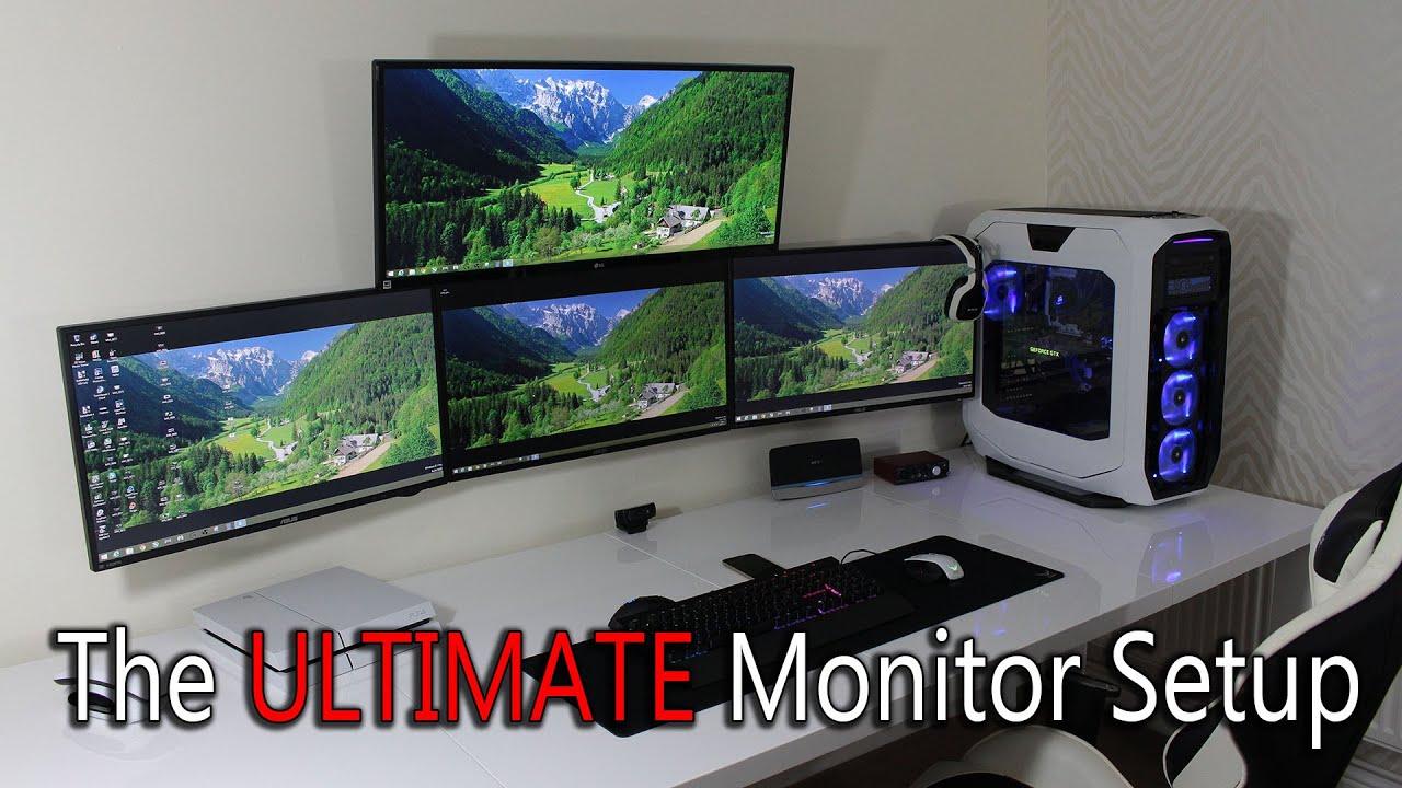 "Ultimate Monitor Setup, Triple 27"" Monitors With Ultrawide"