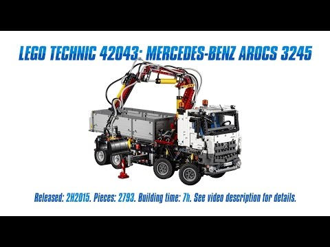 'Lego Technic 42043: Mercedes-Benz Arocs 3245' Unboxing, Speed Build & Review