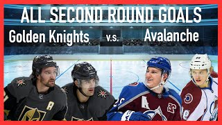 All Second Round NHL Goals (Golden Knights Vs Avalanche)