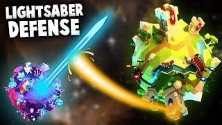 Planet sized LIGHTSABER stops ORBITAL WEAPONS (Worbital Gameplay Part 2)