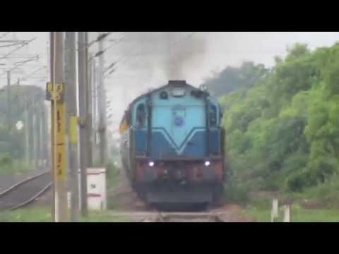 22624 MDU-MS Mahal Express with LHF TNP WDG-3A