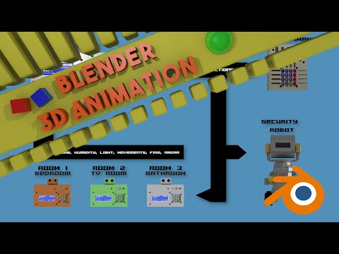 Render Animation Jarvis Home Automation (Version 2)