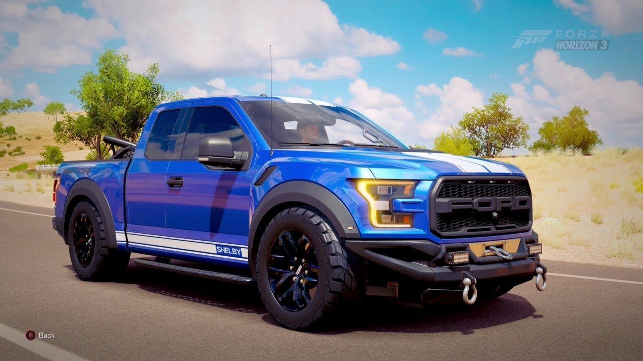 Ford F150 Crew Cab >> Forza Horizon 3  850Hp 2017 SHELBY RAPTOR F-150 [Street Truck] - YouTube