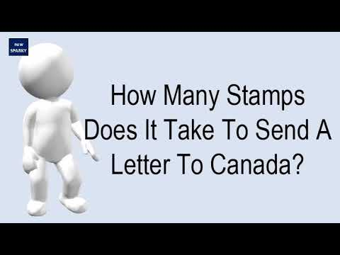 How Many Stamps Does It Take To Send A Letter To Canada?