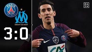 Di Maria und Draxler glänzen ohne Neymar: PSG - Marseille 3:0 | Highlights | Coupe de France | DAZN