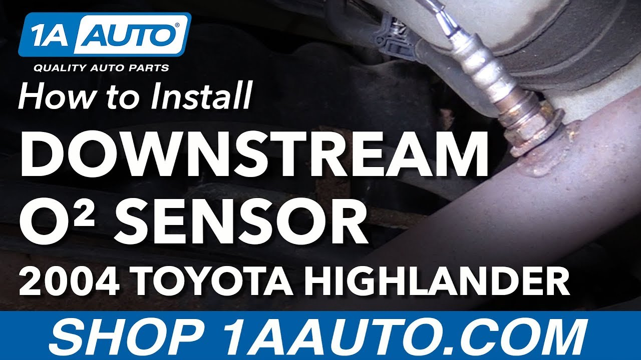 How To Install Replace Downstream O2 Oxygen Sensor 2004 Toyota 98 Camry Engine Diagram Highlander