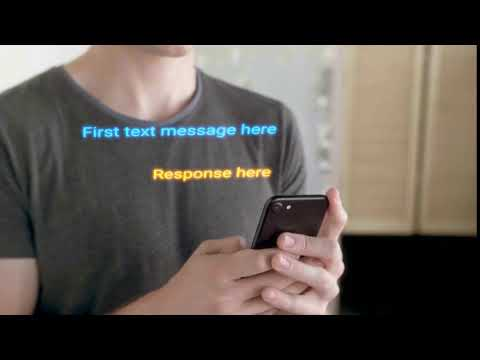 Brand Motion video footage - MAN TEXTING