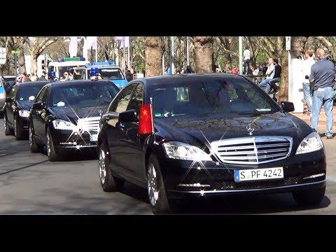 VIP-Eskorte Präsident von China Xi Jinping in Düsseldorf