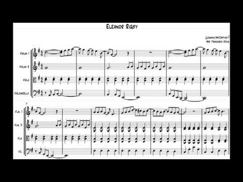 Eleanor Rigby String Version Sheet Music