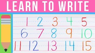 How to Write Numbers | Learn to Write with Chicka Chicka 123 | Handwriting Practice for Kids