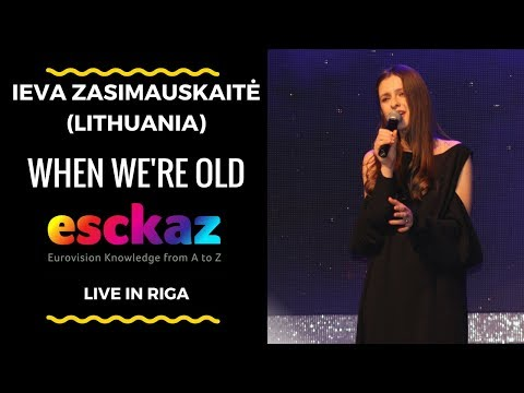 ESCKAZ in Riga: Performance from Ieva Zasimauskaitė - Lithuania - When We're Old