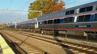 Amtrak Chief Engineer Test Extra, MBTA Rescue Train, and more from Attleboro Station!