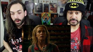 A QUIET PLACE   Official TEASER TRAILER REACTION & REVIEW!!!
