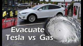 Evacuating with a Tesla vs Gasoline Car