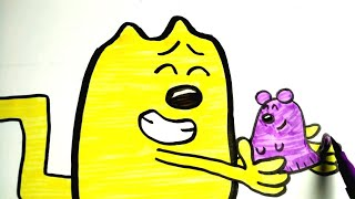 How To Draw Wubbzy And His Fleegle!!! | Wow Wow Wubbzy Colours for kids