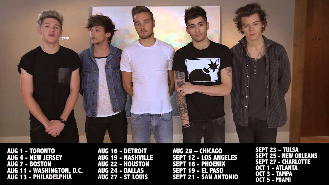2014 Where We Are US stadium tour announcement