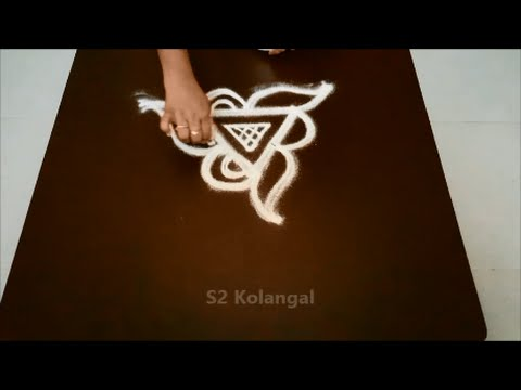 very simple free hand kolam for beginners rangoli designs without