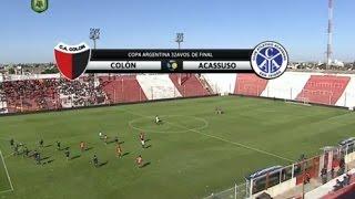 Fútbol en vivo. Colón - Acasusso. 32 avos Copa Argentina. FPT.