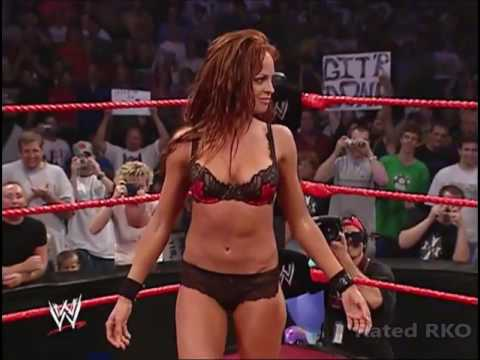 Trish Stratus Strips Christy Hemme to Bra and Panties Raw 27 9 04