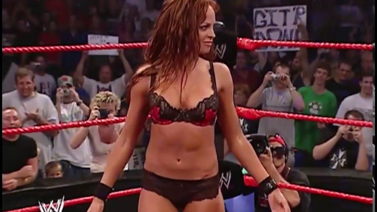 9edfc31f18e Trish Stratus Strips Christy Hemme to Bra and Panties Raw 27 9 04 ...