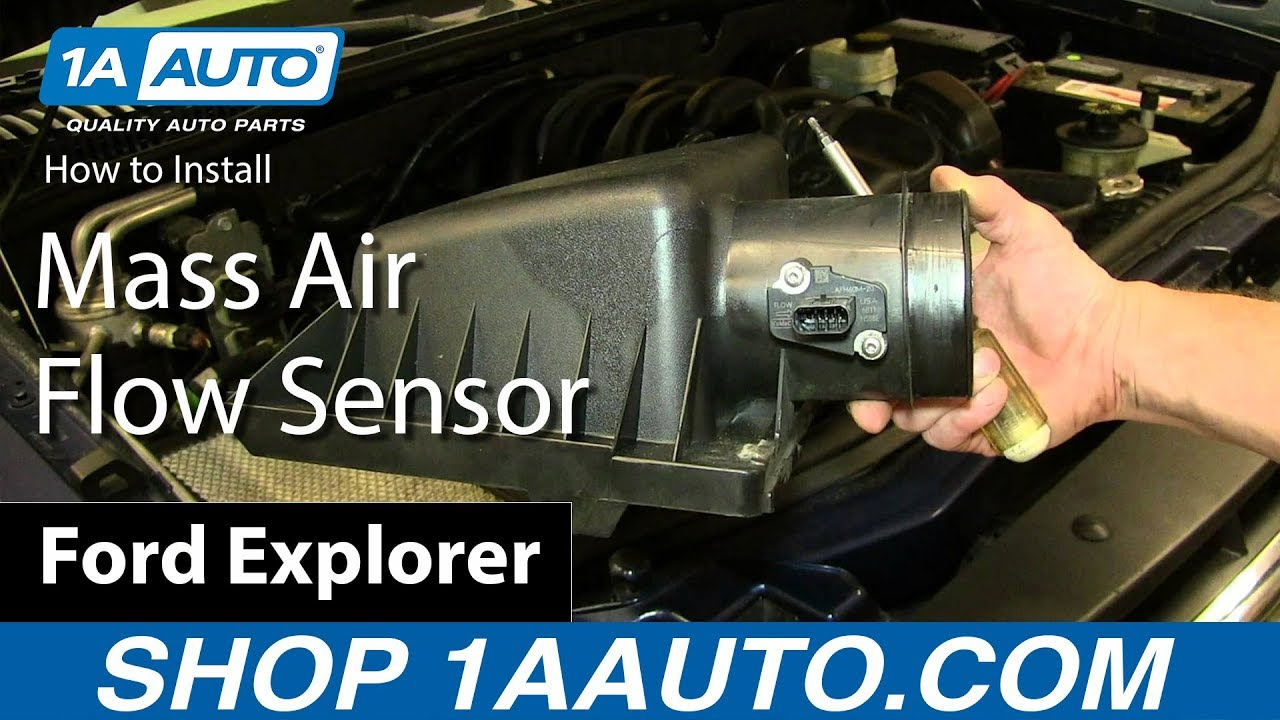 how to replace air flow meter sensor 04 13 ford explorer 4 6l v8 [ 1280 x 720 Pixel ]