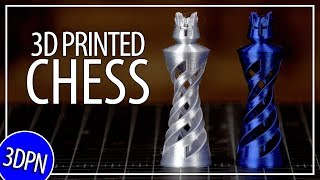 3D Printing a Chess Set and Laser Burning a Chess Board