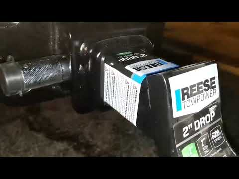 """How to install Reese 2"""" drop tow hitch on a truck."""