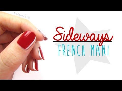 Sideways French Nail Art